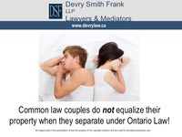 Common law couples do not equalize their
