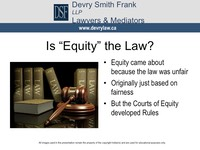 "Is ""Equity"" the Law?