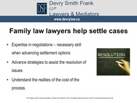 Family law lawyers help settle cases