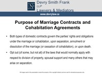 Purpose of Marriage Contracts and Cohabitation Agreements