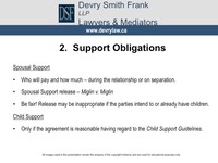 2. Support Obligations