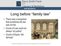 "Long before ""family law""
